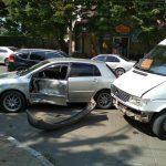 В Кишиневе маршрутчик пытался совершить обгон, но спровоцировал ДТП (ФОТО)
