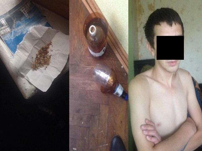 На Буюканах полиция задержала молодого человека, употреблявшего наркотические средства