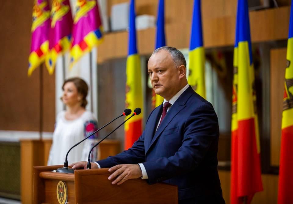 Додон выступил с речью на приеме по случаю Дня независимости (ВИДЕО)