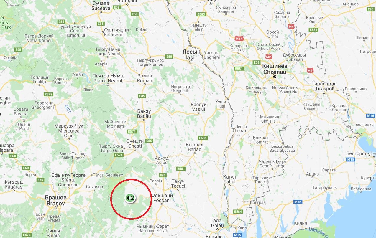 Четыре землетрясения за сутки, 10 – за неделю: соседнюю Румынию регулярно трясёт