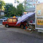В Дубоссарах автоледи за рулём красного «Жигули» снесла прилавок (ФОТО)