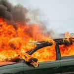 В Бендерах машина сгорела дотла вместе с документами ее хозяина