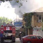 На мебельной фабрике в Комрате произошел пожар (ВИДЕО)