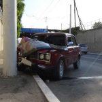 В Бендерах молодой водитель «Жигули» врезался в железобетонный столб из-за жары (ФОТО)