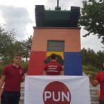 Унионисты Шалару вандализировали советский танк-памятник, выкрасив его в цвета флага Румынии (ФОТО)