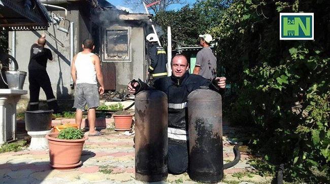 В Хынчештах из-за короткого замыкания сгорел дом (ФОТО)
