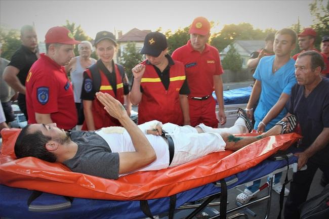 На столичном вокзале встретили пострадавших в автокатастрофе в Калуге (ФОТО, ВИДЕО)