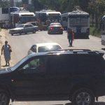 В столице произошла массовая авария с участием легковушки, маршрутки и троллейбусов