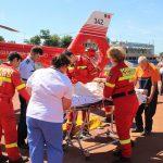 Вертолёт SMURD доставил в Кишинёв несовершеннолетнего мотоциклиста, пострадавшего в ДТП (ФОТО, ВИДЕО)