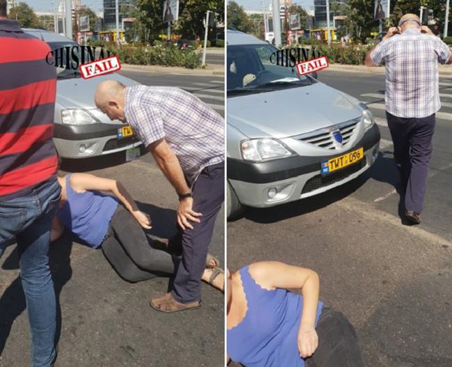 На Ботанике таксист сбил женщину, переходившую дорогу по зебре (ФОТО)