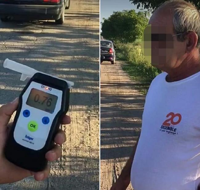 Пьяный инструктор по вождению за рулём служебного автомобиля попался патрульным