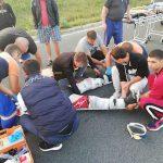 Мотоциклист угодил в больницу после того, как вылетел с трассы