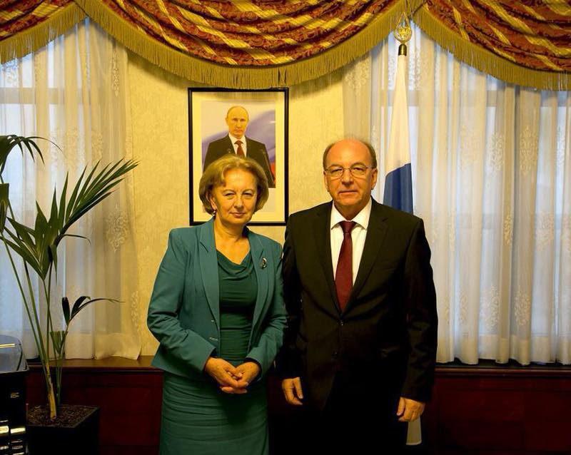Зинаида Гречаный встретилась с Послом России Олегом Васнецовым