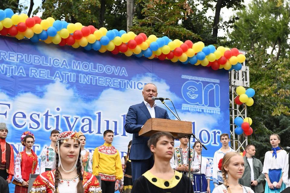 Додон на Этнокультурном фестивале заявил о намерении учредить должность профильного советника (ФОТО)