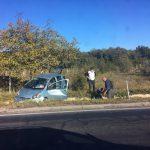 На трассе Кишинев-Хынчешты автомобиль угодил в кювет (ФОТО)