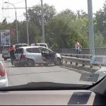 Серьезное ДТП на столичном Виадуке спровоцировало пробку (ФОТО)