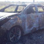 В селе Шерпены дотла сгорел автомобиль: полыхающую машину сняли на видео