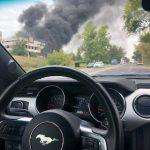 Густой черный дым, валивший от здания на Чеканах, перепугал жителей столицы (ФОТО)