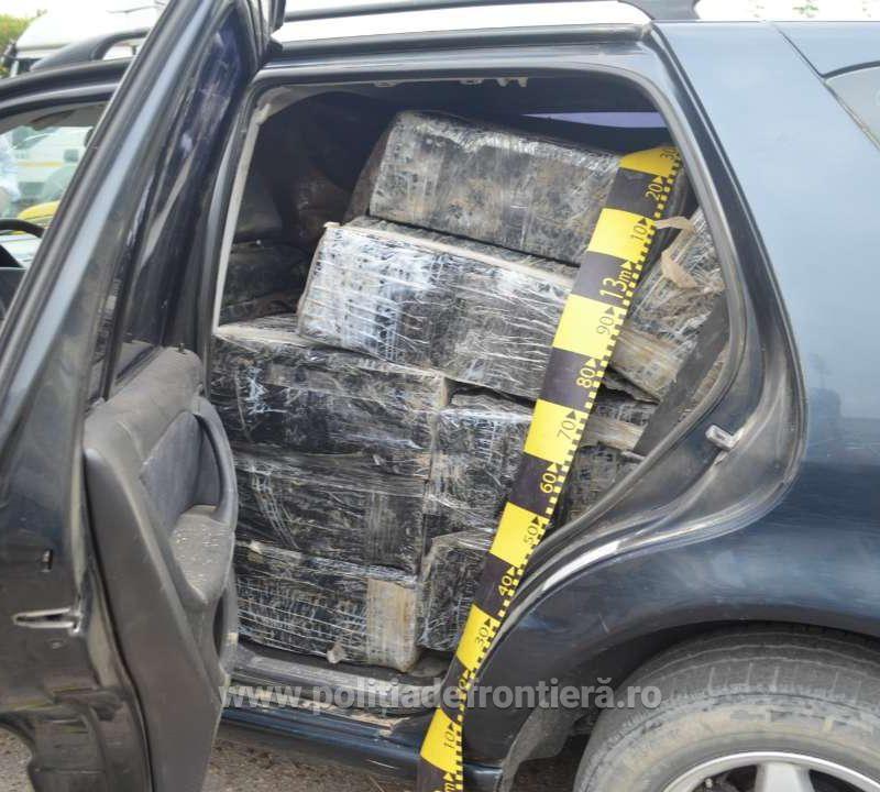На границе Молдовы и Румынии конфисковано 13 000 пачек контрабандных сигарет (ФОТО)