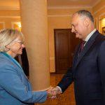 Додон - председателю парламента Дании: Молдова заинтересована в прямых инвестициях из вашей страны