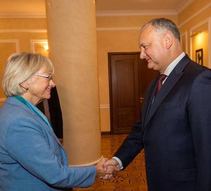 Додон – председателю парламента Дании: Молдова заинтересована в прямых инвестициях из вашей страны