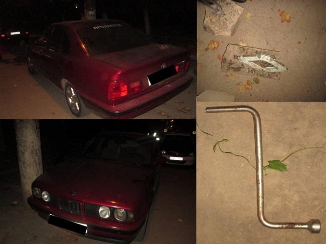 В столице арестованы трое молодых людей, пытавшихся снять колёса с чужого автомобиля (ВИДЕО)