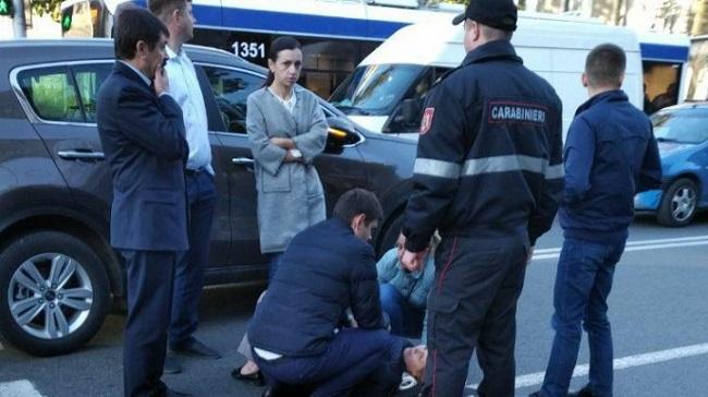 В центре Кишинёва на «зебре» была сбита сотрудница МВД