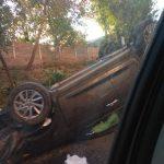 Утреннее ДТП в столице: перевернулся автомобиль (ФОТО)