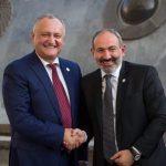 Додон поблагодарил руководство Армении за поддержку при предоставлении Молдове статуса наблюдателя при ЕАЭС (ФОТО)