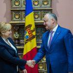 Додон встретился с новым послом Молдовы в Швейцарии
