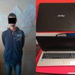 Дерзкая кража ноутбука в столичном магазине попала на видео