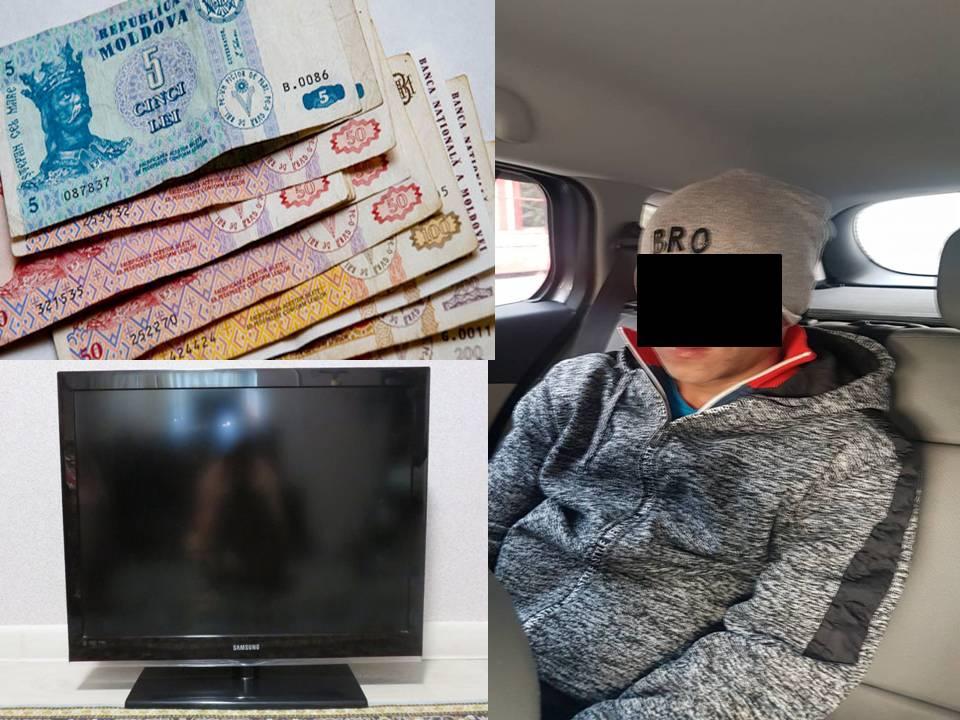 Полиция арестовала рецидивиста-домушника, обчистившего квартиру в Дурлештах (ВИДЕО)