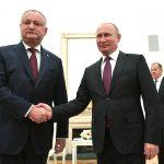 Игорь Додон встретится сегодня с Владимиром Путиным