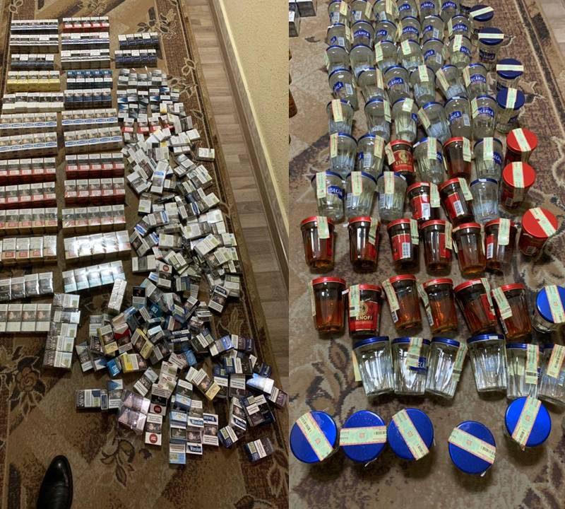 Столичная полиция прикрыла незаконный магазин с алкоголем и сигаретами (ВИДЕО)
