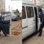 """Видео не для слабонервных: как жителей столицы """"трамбуют"""" в маршрутку по утрам (ВИДЕО)"""