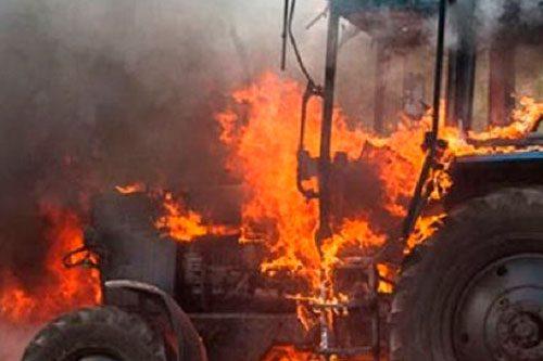 Рыбничанка подожгла трактор в отместку бывшему мужу