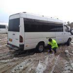 5 микроавтобусов сняты с маршрута из-за отсутствия зимних шин (ФОТО)