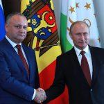 Додон поздравил Путина и россиян с Днем народного единства