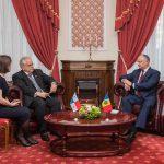Додон встретился с тремя новыми иностранными послами в Молдове (ФОТО)