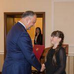 Прославившие Молдову на международном уровне спортсмены, учащиеся и военные получили почетные дипломы от президента (ВИДЕО)