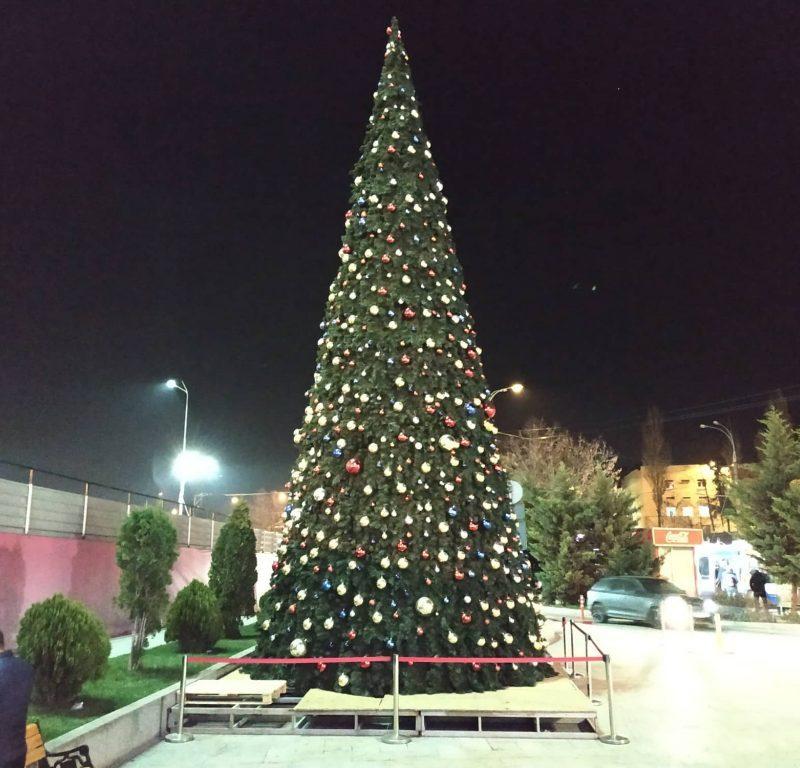Праздник к нам приходит: в столице начали устанавливать новогодние елки