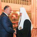 Патриарх Кирилл поздравил Игоря Додона с Днем крещения Руси (ФОТО)