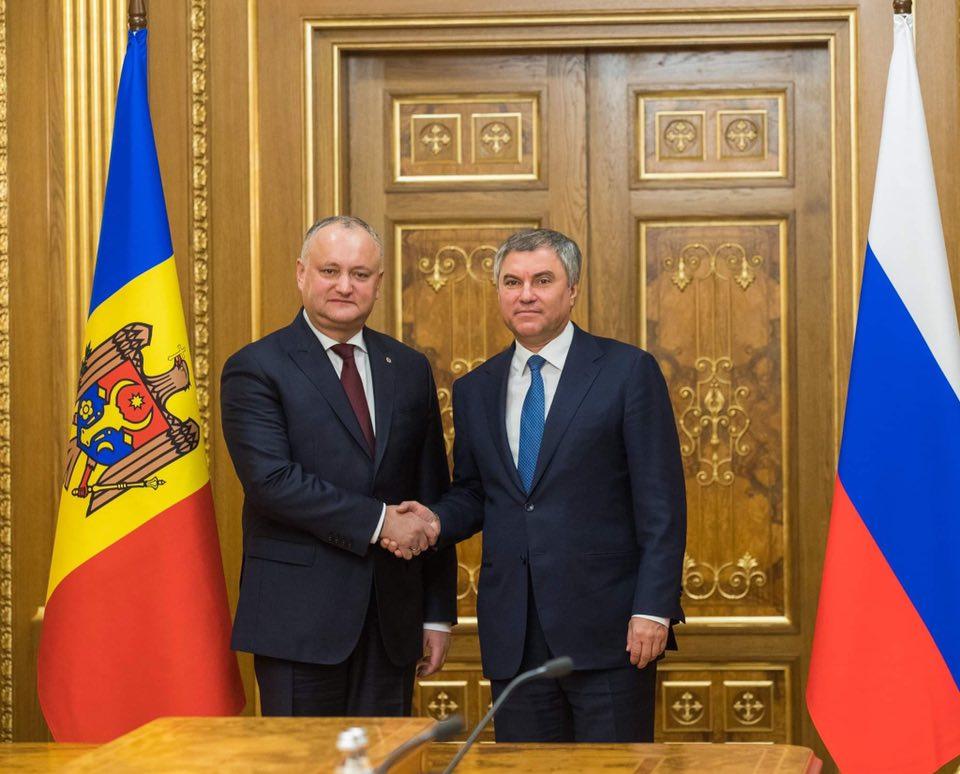 Глава государства обсудил важные вопросы молдо-российского сотрудничества с Председателем Госдумы РФ (ФОТО)