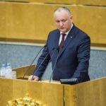 Додон в Госдуме: Россия была, есть и будет стратегическим партнёром Молдовы