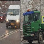 Отлетевшее от грузовика колесо повредило легковушку (ФОТО)