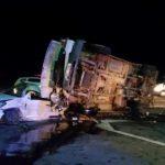 Серьезная авария в Новых Аненах: микроавтобус перевернулся, оба водителя в тяжелом состоянии