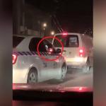 Сотрудник Нацагентства автотранспорта выбросил окурок на проезжую часть: момент попал на камеру (ВИДЕО)