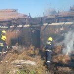 Неисправная печь стала причиной пожара в частном доме