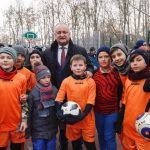 Президент принял участие в открытии спорткомплекса в Бричанах, построенного по его инициативе (ФОТО)