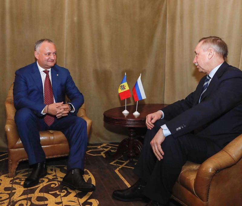 Мэр Санкт-Петербурга посетит Кишинев по приглашению Додона (ФОТО)